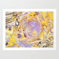 Yellow And Purple Car Wa… Art Print