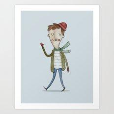 Man in Winter Art Print