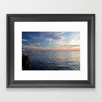 Sunset In Croatia  Framed Art Print