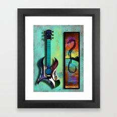 Acoustic Electric Framed Art Print