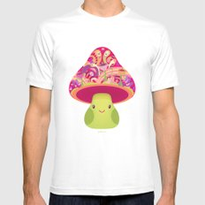 Mrs. Shroom SMALL White Mens Fitted Tee