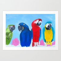 Family of 4 Art Print