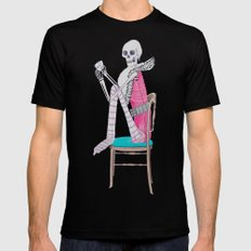 circus skeleton Mens Fitted Tee SMALL Black