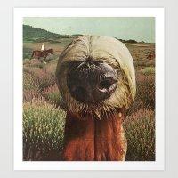 Dog Breath Across A Purp… Art Print
