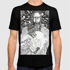 Steampunk Origin of Man Mens Fitted Tee Black SMALL