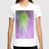 Center of Attention  Womens Fitted Tee White SMALL