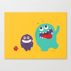 All kinds of excited Canvas Print