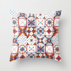 Tile pattern Throw Pillow