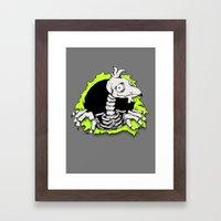 CHICKEN RIPPER Framed Art Print