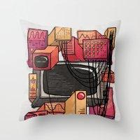 Digital Playground Throw Pillow