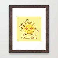 Cute as a button! Framed Art Print