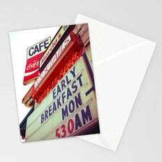 Diner angle Stationery Cards