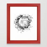 HYPNOTIZED Lemur Framed Art Print