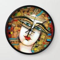 YOUNG GIRL Wall Clock