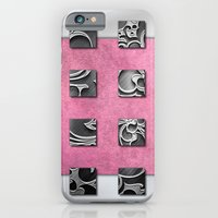 iPhone & iPod Case featuring SQUARE AMBIENCE - White Satin by VIAINA