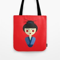 Japanese Doll Tote Bag