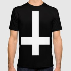 inverted cross Mens Fitted Tee Black SMALL