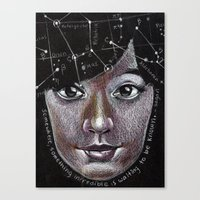 I Dream the Stars... Canvas Print
