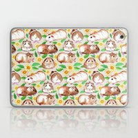 Guinea Pigs and Daisies in Watercolor Laptop & iPad Skin