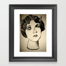 1922 Lila Lee portrait Framed Art Print