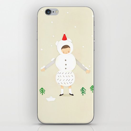 snow snow iPhone & iPod Skin