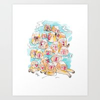 Wild Family Series - Sno… Art Print