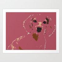 Pink Lady - Dachshund, W… Art Print