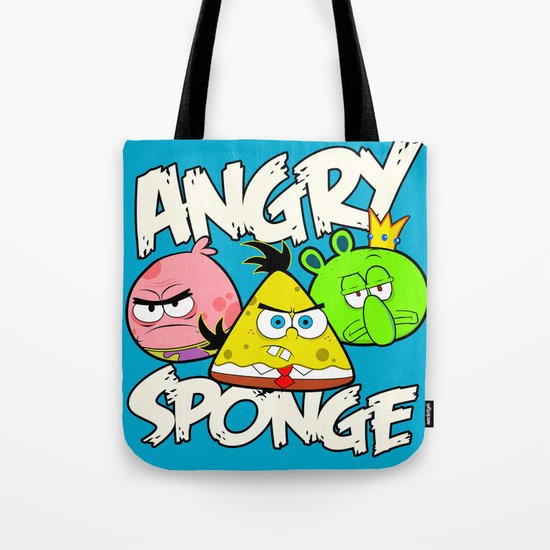 Angry Spongebird - Angry Birds vs SpongeBob Tote Bag