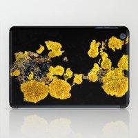 Yellow Lichen iPad Case