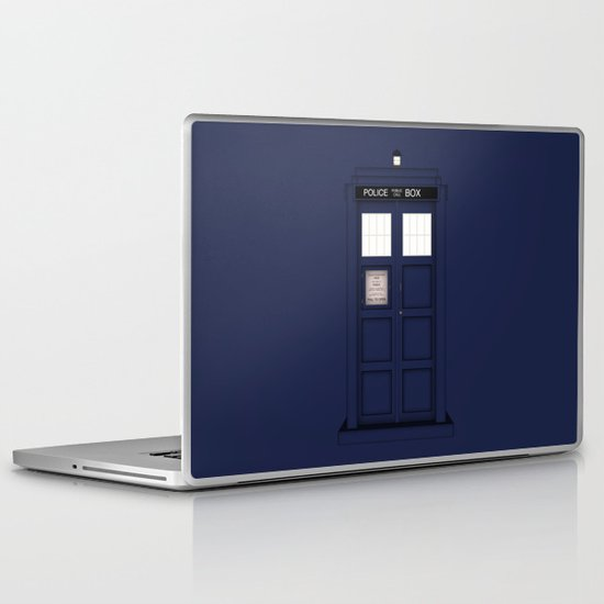 It's The Tardis Laptop & iPad Skin