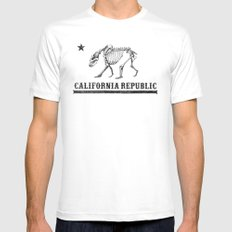 California Republic SMALL White Mens Fitted Tee