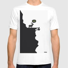 WTF? SMALL White Mens Fitted Tee