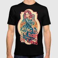 I Set Fire To The Rain -… Mens Fitted Tee Black SMALL