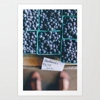 Blueberries At The Farme… Art Print
