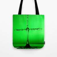 Green Splash Tote Bag