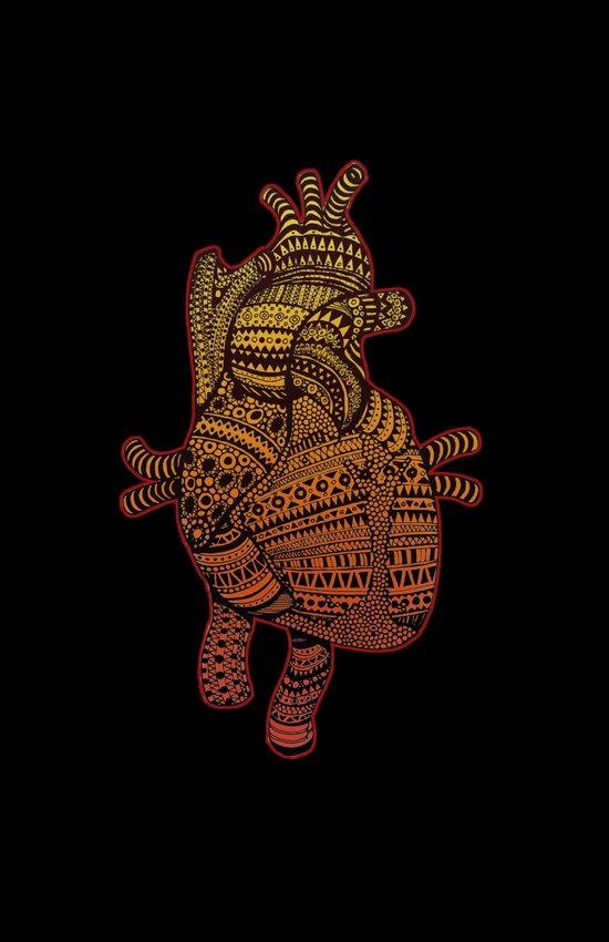 Native Heart  Art Print