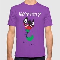 Why So Stitch? Mens Fitted Tee Ultraviolet SMALL