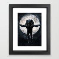 Lunar Figure  Framed Art Print