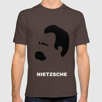 NIETZSCHE Mens Fitted Tee Brown SMALL