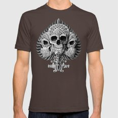 Skull Spade Mens Fitted Tee Brown SMALL