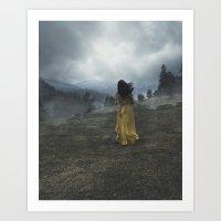 Escape to the Hills  Art Print