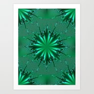 Seafoam Bursts - HS Seri… Art Print