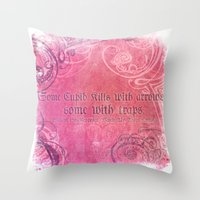 Cupid Kills - Shakespeare Love Quote - Much Ado Throw Pillow
