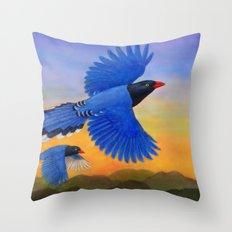 Taiwan Blue Magpie(1) Throw Pillow