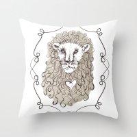 Lion Heart Throw Pillow