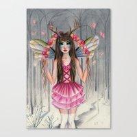 A Deer Little Faerie Canvas Print