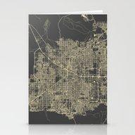 Las Vegas Map #1 Stationery Cards