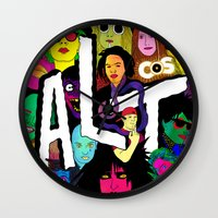 ALT1 by Steven Fiche Wall Clock