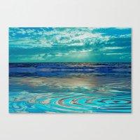 FANTA-SEA IN BLUE Canvas Print