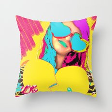 Vintage Amour #005 Throw Pillow